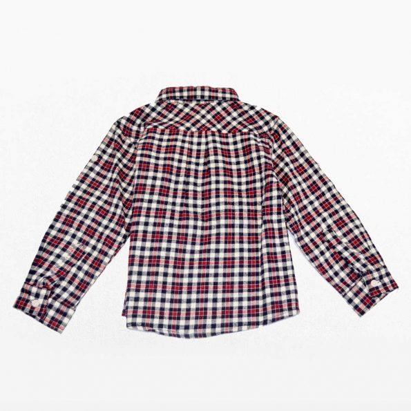 camisa cuadros, rojo y blanco