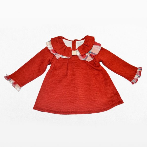 vestido volante frente rojo